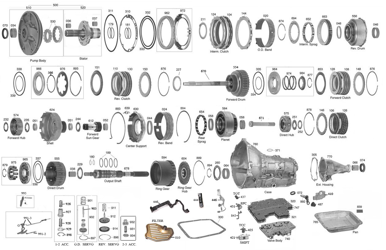 a604 transmission parts wiring diagrams