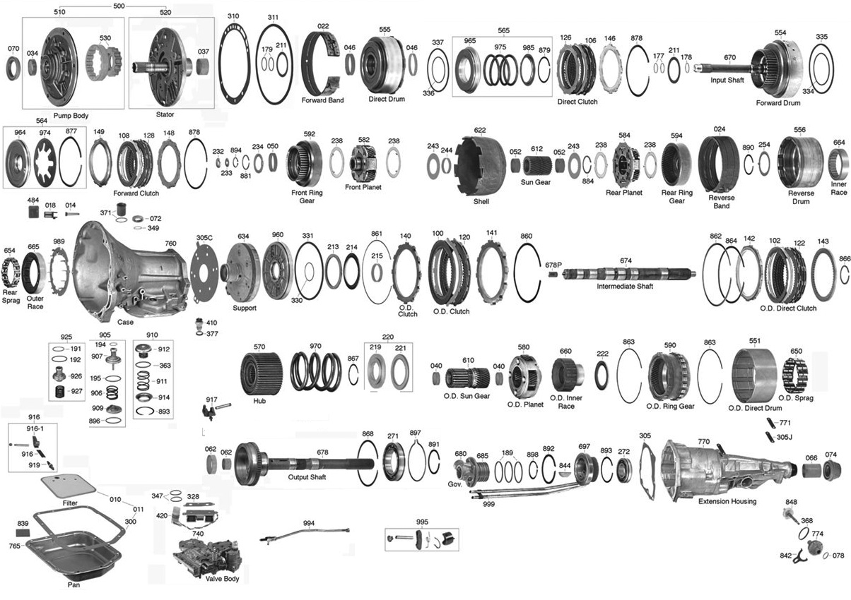 47re Parts Diagram Wiring Diagrams Chrysler Transmission Dodge 727 44re Rebuild Valve Body