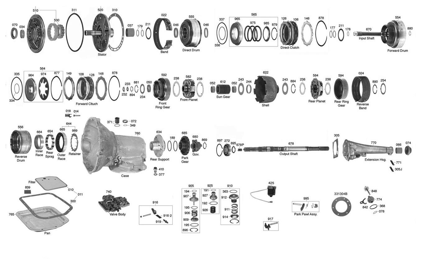 Trans Parts Online 904 904 Transmission Parts