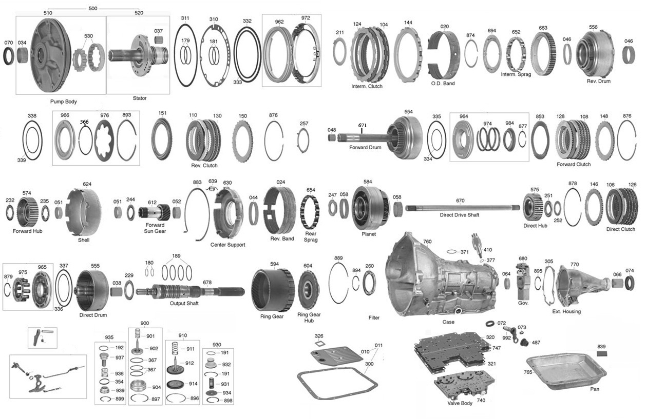 1993 f150 transmission diagram