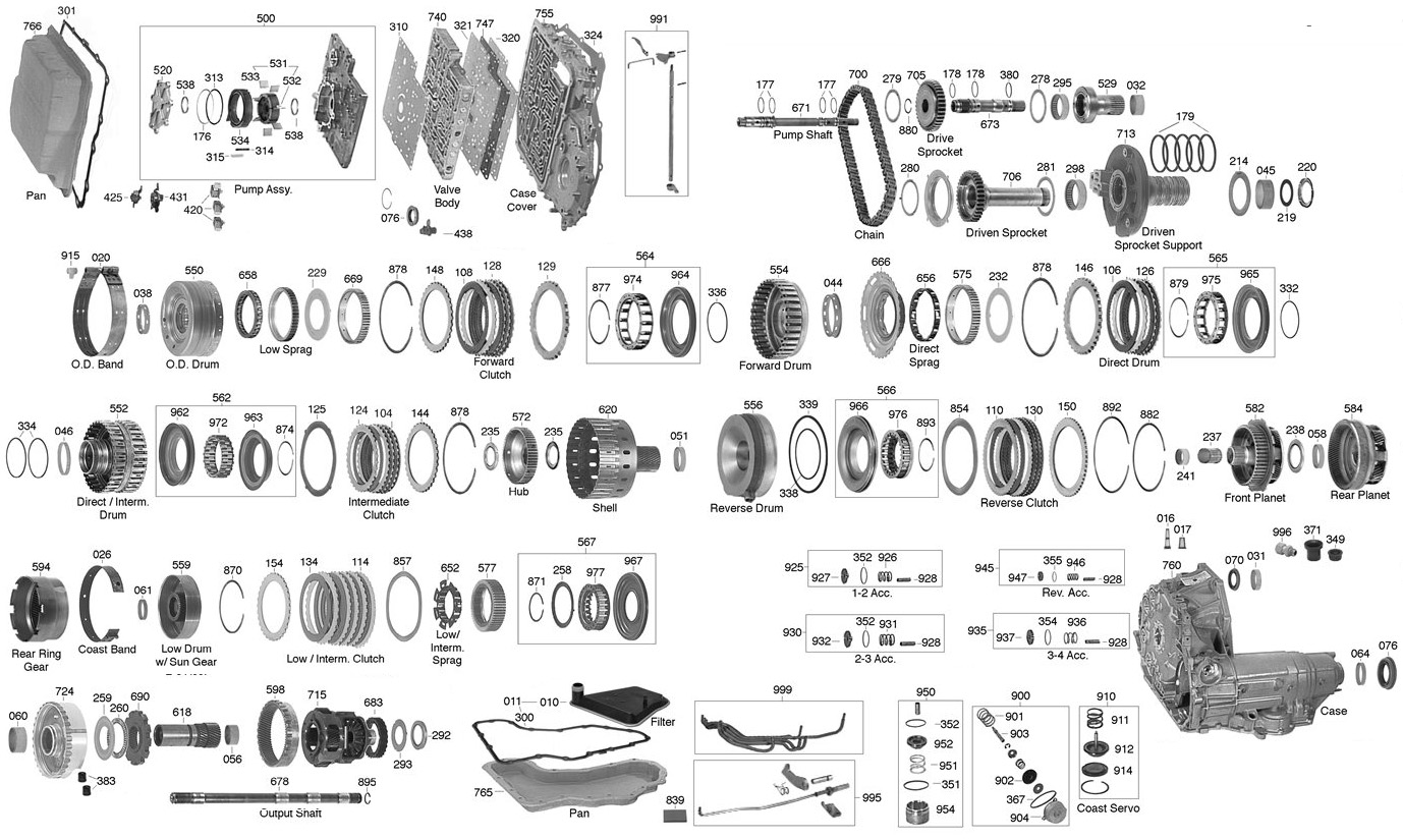 trans parts online ax4n ax4n transmission parts rh transpartsonline com AX4N Exploded-View AX4N Transmission Diagram