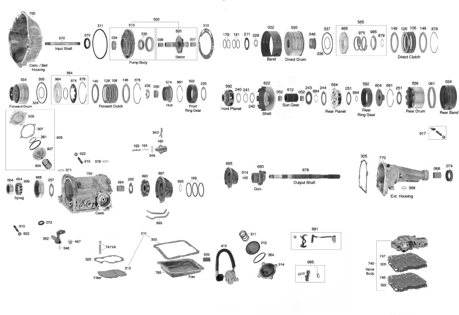 ford c6 transmission parts diagram  ford  auto parts