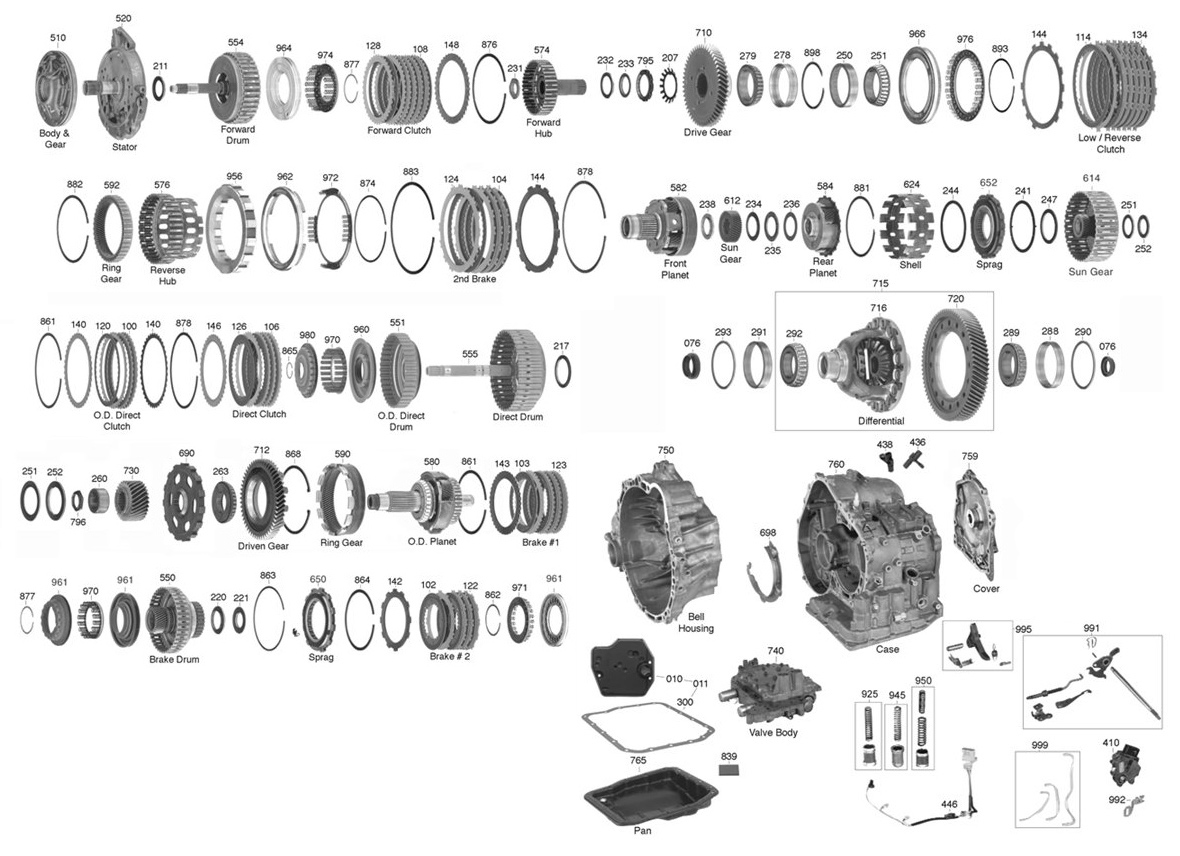 u151e transmission diagram